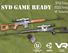 SVD Dragunov sniper rifle 3D model