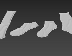 3D model sock socks calcetin calcetines foot footwear wear