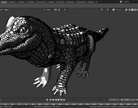3D GREASE PENCIL crocodile
