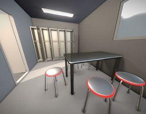 Low-Loly Break Room Version 2 3D asset