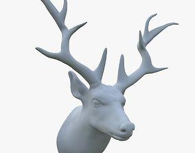 scarecrow deer head 3D model