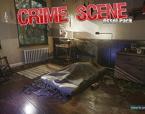 3D model Low-Poly Crime Scene Pack other
