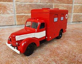 miniatures Old ambulance - scale model kit