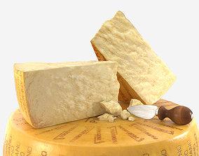 3D Parmesan cheese Parmigiano Reggiano