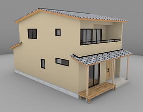 3D asset House model for background 10