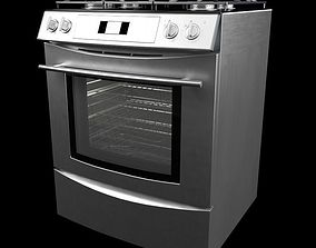 3D Silver Electric Stove