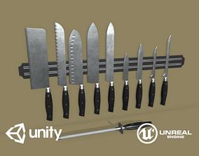 3D model Kitchen Knife Set