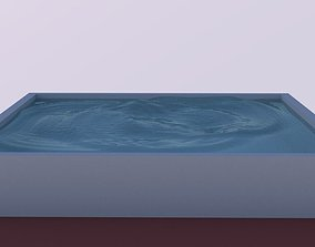 3D asset Animation Waves Water