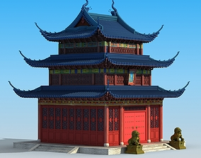 3D Ancient Chinese temple