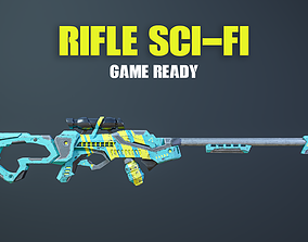 Rifle Sci-Fi Game Ready 3D model