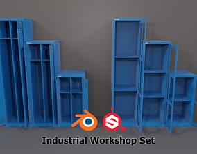 3D model Industrial Workshop Narrow Basic Cabinets 1