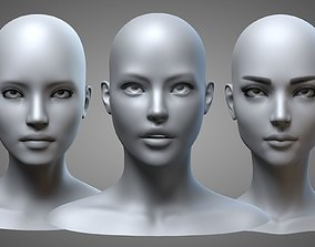 3D Female Heads Collection