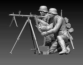 3D print model German soldiers