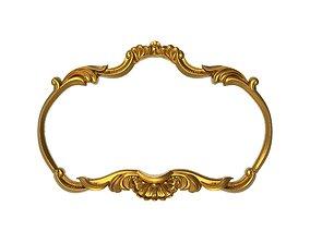 gold carved frame 3D