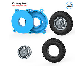 3D printable model Truck Tire Mold With Wheel rc