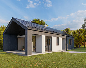 Summer house archicad22 sketchup lumion10 3D
