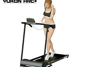Girl on the treadmill 3D