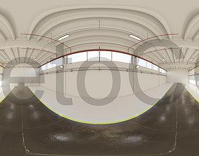 HDRI - Industrial Hangar Hall Interior 6 3D asset