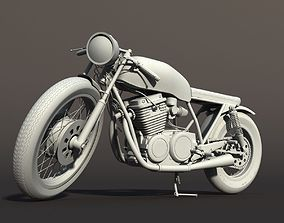 3D Cafe Racer Motorcycle