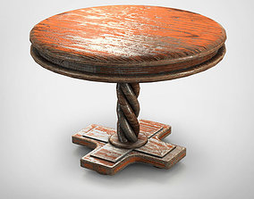 3D asset Old Round Table A2