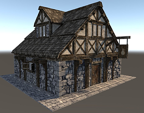 Medieval City House 01 3D asset