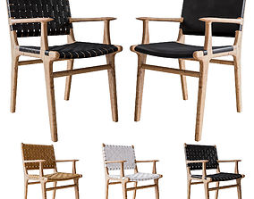 3D model Flat and Stripped Dining Chairs with