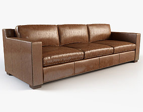 Restoration hardware - Collins leather sofa with 3D model