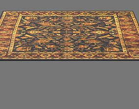 INDO HAND-KNOTTED MAHAL WOOL RUG 3D