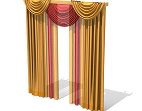 3D model Long Multi Colored Drapes