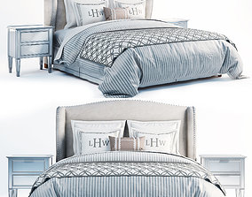 3D Wingback pottery barn bed