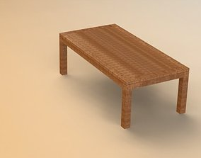 6 seater table 3D model
