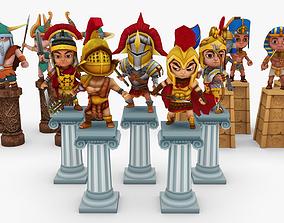 Warrior Pack Three Tribes 3D asset