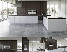 3D model Kitchen BVA Mood Legno Rovere