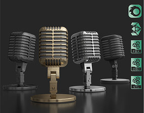 Retro Microphone 3D animated