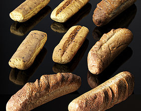 Bakery Products Set 3D model