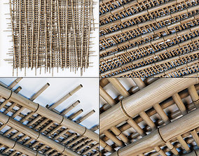 3D model Bamboo ceiling long cage