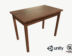 low-poly Wooden Table Low Poly PBR Game Ready Asset