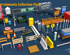 3D 40 Street Elements Collection Pack
