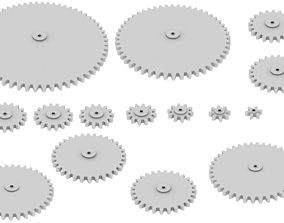 Gears - Different size 3D printable model