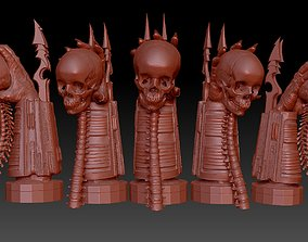 predator arm and skull display 3D print model
