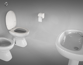 Toilet basic set 3D model
