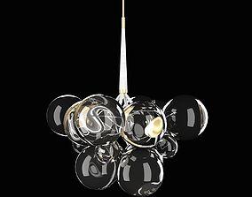 pelle x large bubble pendant light 3D model