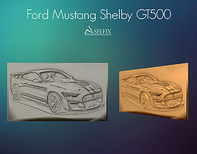 3D print model ford mustang shelby gt500 Relief