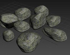 3D asset VR / AR ready stones