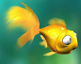 animated low-poly 3DRT - Goldfish