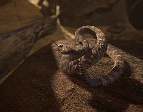 3D asset animated realtime Rattlesnake