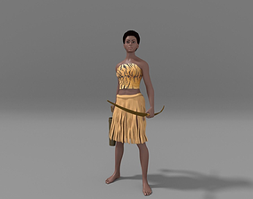 Village girl 3D model