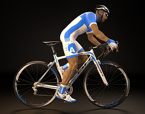 game-ready Cyclist 3D model