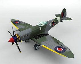 Supermarine Spitfire MK XVIII Aircraft 3D asset