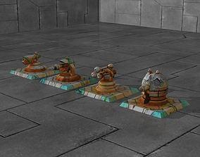 3D model Tower Defense Turrets